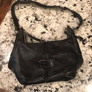 The Sak black leather handbag purse